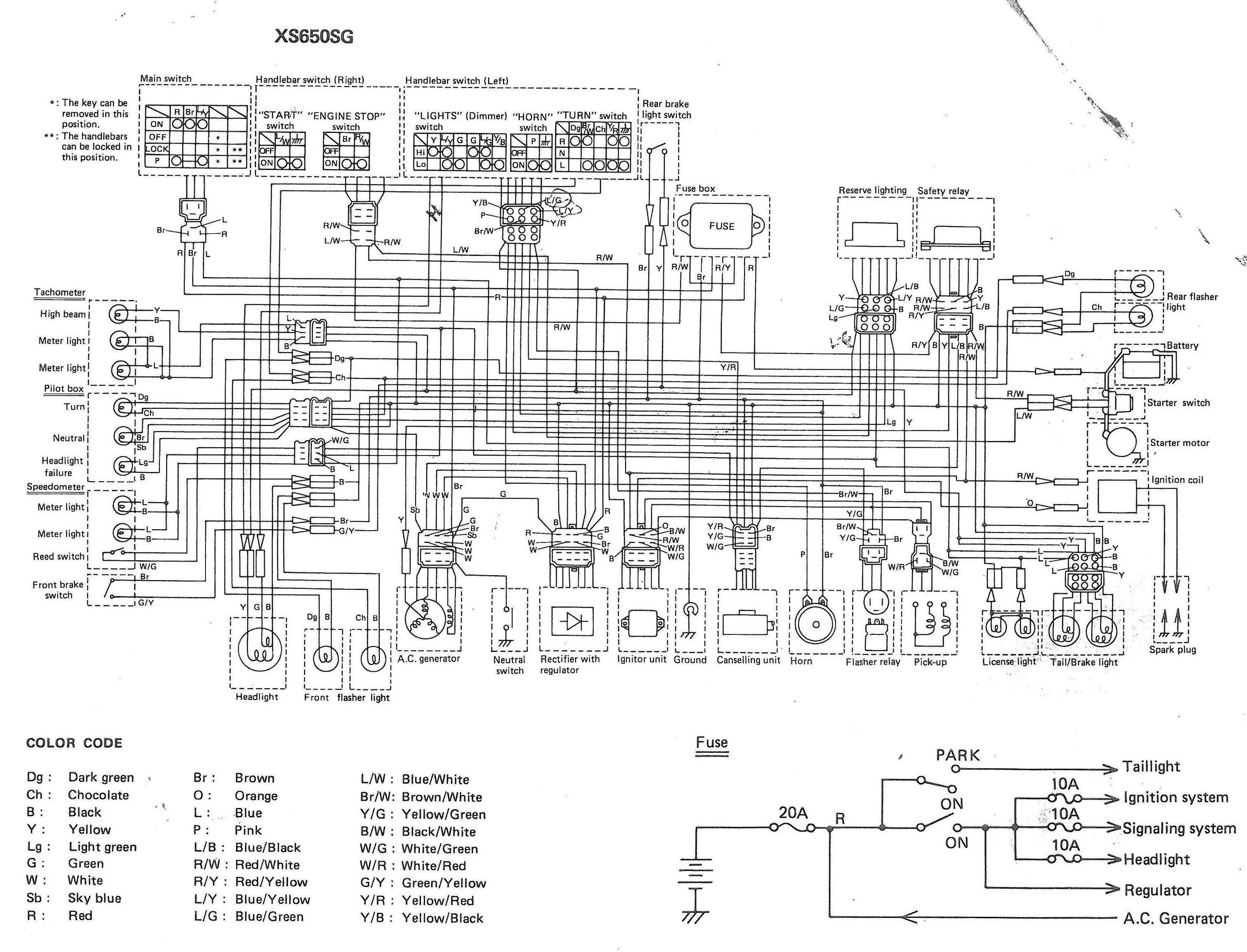 Xs650: 80 Xs650G And Sg Wiring Diagrams | Thexscafe - Sg Wiring Diagram