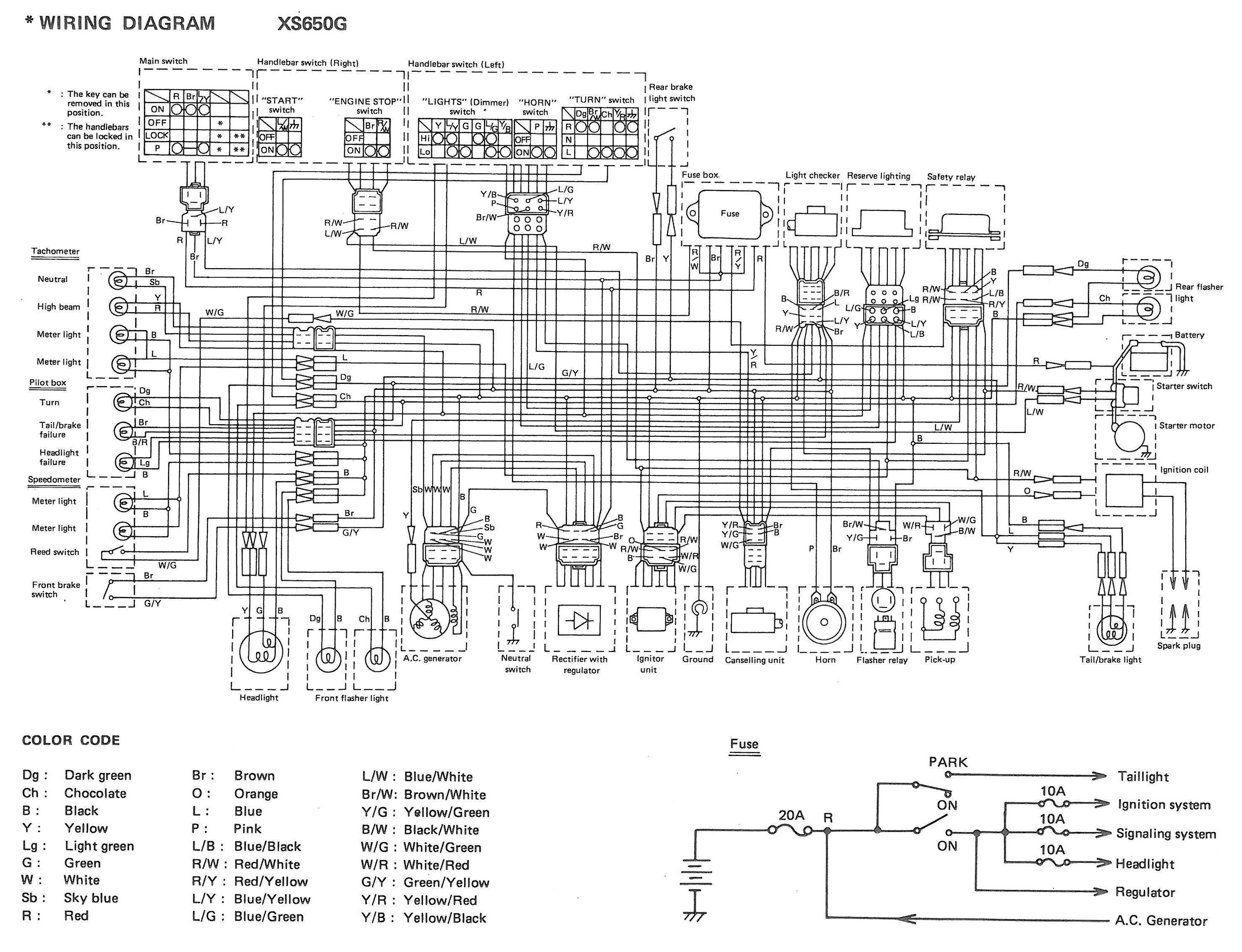 Xs650  80 Xs650g And Sg Wiring Diagrams