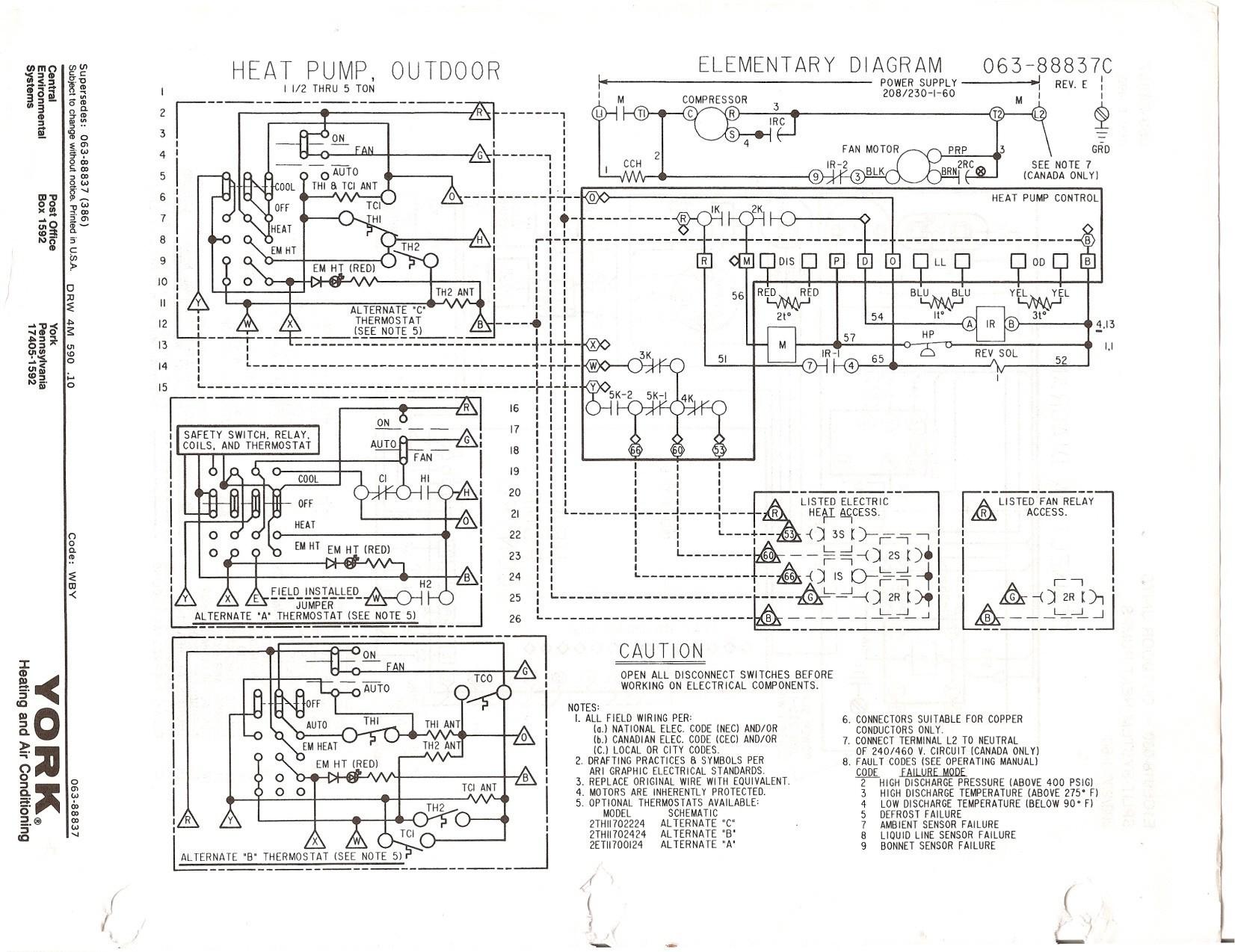 York Heat Pump Wiring Diagrams - Data Wiring Diagram Schematic - Heat Pump Wiring Diagram Schematic